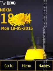 Yellow Gerbera es el tema de pantalla