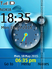Apple Clock 02 theme screenshot