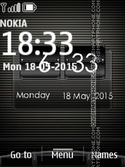 Htc Desire Black Clock theme screenshot