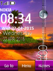 Resort Tropical Clock es el tema de pantalla