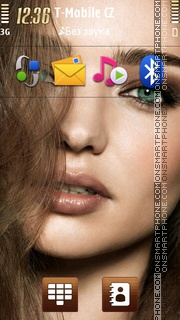 Miranda Kerr 01 theme screenshot