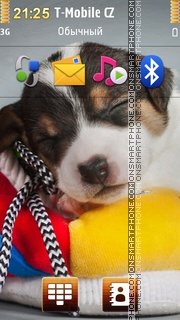 Cute Sleepy Puppy es el tema de pantalla