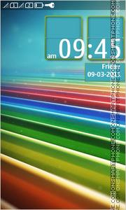 Colorful Stripes theme screenshot