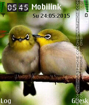 Birds Love theme screenshot