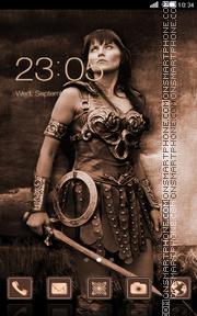 Xena Warrior Princess theme screenshot