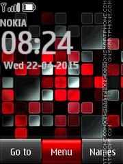 Скриншот темы Red Mosaic