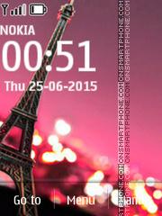 Eiffel Tower 320x240 es el tema de pantalla