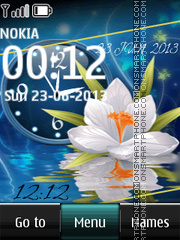 Flowers with Dual Clock es el tema de pantalla