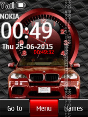 Bmw with Clock es el tema de pantalla