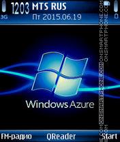 Azure es el tema de pantalla