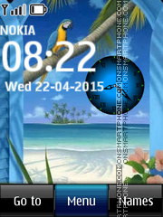Sea Clock 02 theme screenshot