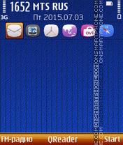 Blue Cover es el tema de pantalla