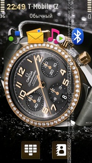 Omega Speedmaster With Diamonds theme screenshot