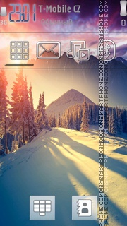 Winter Sun 01 theme screenshot
