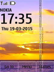 Sunset 31 theme screenshot