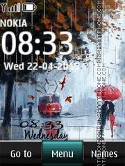 Rain Digital Clock 03 es el tema de pantalla