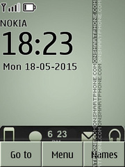 iPhone Clock 04 tema screenshot