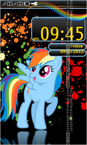 My Little Pony Friendship is Magic es el tema de pantalla