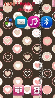 Pink Hearts 07 theme screenshot
