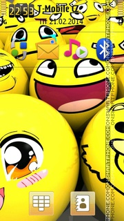 Smiley 12 tema screenshot