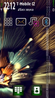 Vivid Flowers tema screenshot