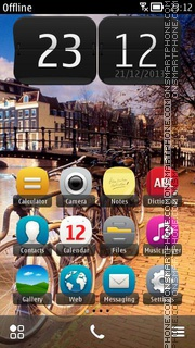 Amsterdam, Holland theme screenshot