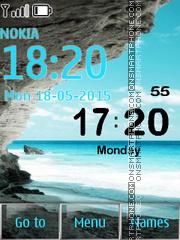 Mediterranean Sea Digital Clock es el tema de pantalla