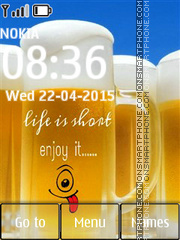 Life is Short 01 es el tema de pantalla