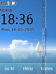 Ocean Sailboat es el tema de pantalla