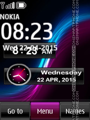 Sony Xperia Clock theme screenshot