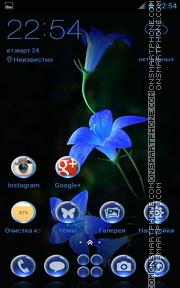 Blossoms Bell Flowers es el tema de pantalla