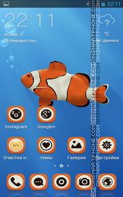 Clown Fish 04 theme screenshot