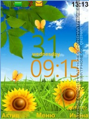 Sunny Flowers theme screenshot