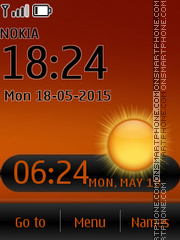 Brown Wall Clock theme screenshot