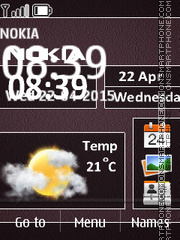 Nokia Clock Widget theme screenshot