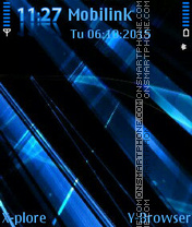 Blue abstract es el tema de pantalla