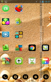 Seashells on Beach es el tema de pantalla