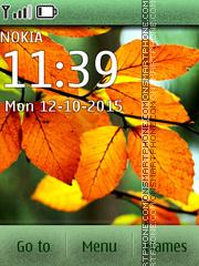 Leaves autumn es el tema de pantalla