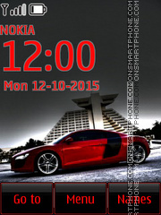 Audi R8 37 theme screenshot
