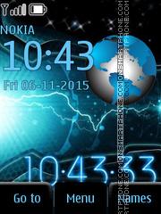 Space Clock es el tema de pantalla