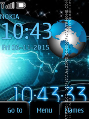 Space Clock theme screenshot