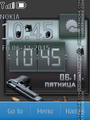 Pistol Clock theme screenshot