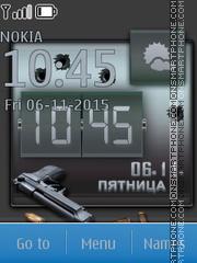 Pistol Clock es el tema de pantalla
