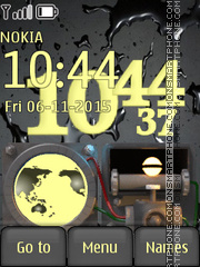 Engine Clock tema screenshot
