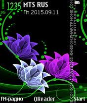Neon-Flowers es el tema de pantalla