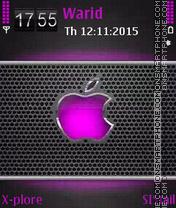 Purple apple es el tema de pantalla