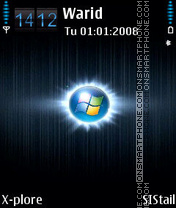 Window blue2 es el tema de pantalla