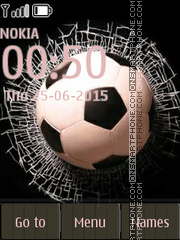Football and Broken Glass tema screenshot