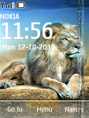 Lion 01 tema screenshot