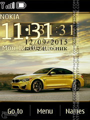 BMW M4 theme screenshot